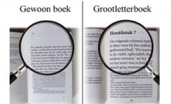 Volwassenen boeken met grote letters