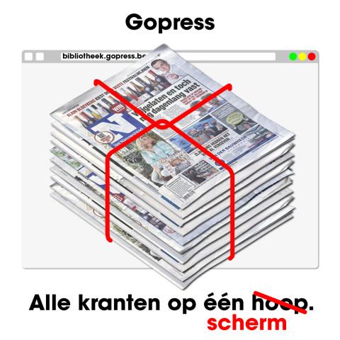kranten op een hoop